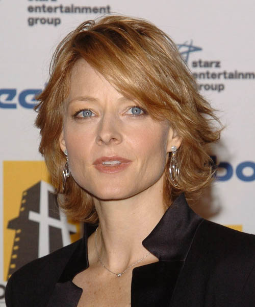 Jodie Foster Medium Straight Casual   Hairstyle
