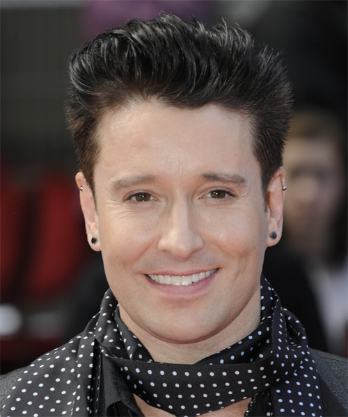 Andrew Stone Short Straight Formal    Hairstyle   - Dark Brunette Hair Color