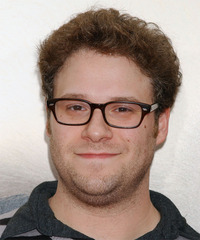 Seth Rogen Short Curly Casual    Hairstyle   - Light Brunette Hair Color