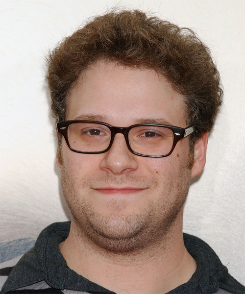 Seth Rogen Short Curly Casual   Hairstyle   - Light Brunette