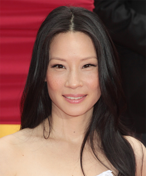 Lucy Liu Long Straight Formal   Hairstyle   - Black