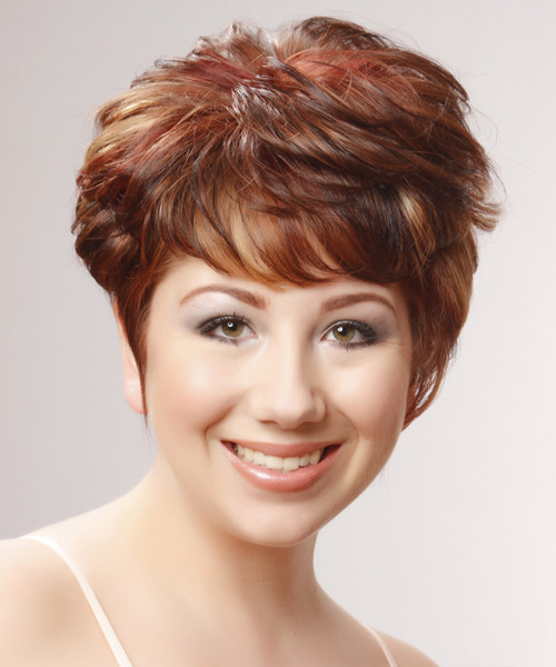 Short Straight Formal    Hairstyle   -  Red Hair Color