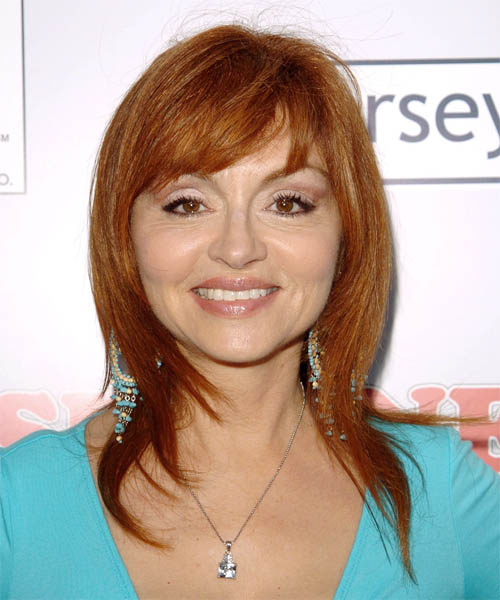 Judy Tenuta Long Straight Casual    Hairstyle