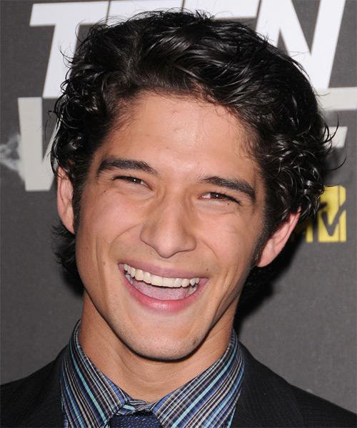 Tyler Posey Short Wavy Casual   Hairstyle   - Black