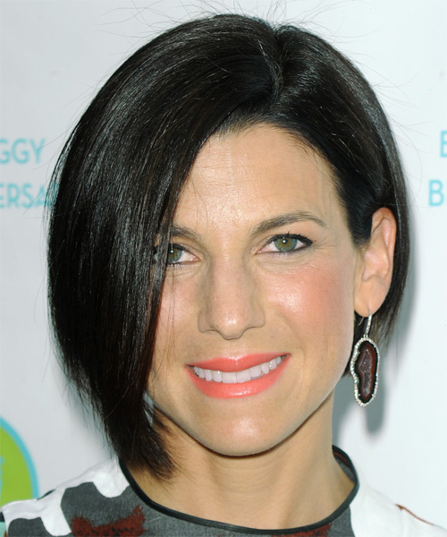 Jessica Seinfeld Short Straight Formal Bob  Hairstyle   - Black