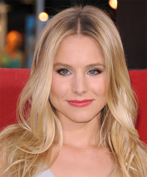Kristen Bell Long Straight Formal   Hairstyle   - Medium Blonde (Golden)