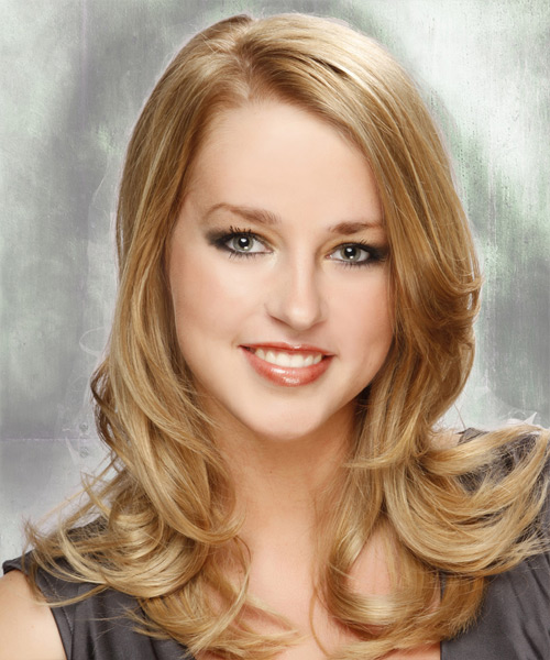 Long Straight Formal   Hairstyle   - Medium Blonde (Champagne)