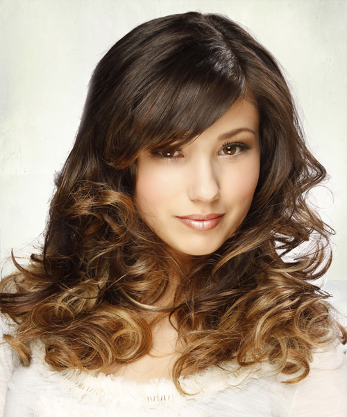 Long Curly Formal   Hairstyle   - Medium Brunette