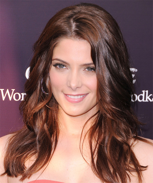 Ashley Greene Long Wavy Formal    Hairstyle   - Dark Brunette Hair Color