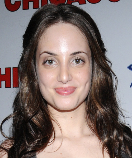 Alexa Ray Joel Long Wavy Casual   Hairstyle   - Dark Brunette