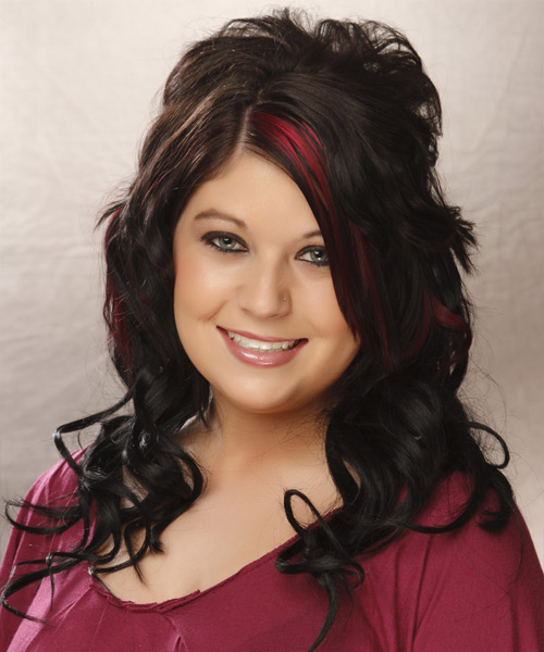 Long Wavy Formal   Hairstyle   - Black
