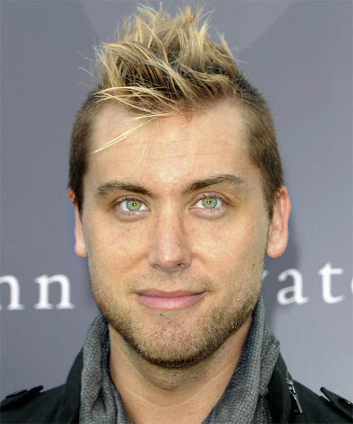 Lance Bass Short Straight Alternative   Hairstyle