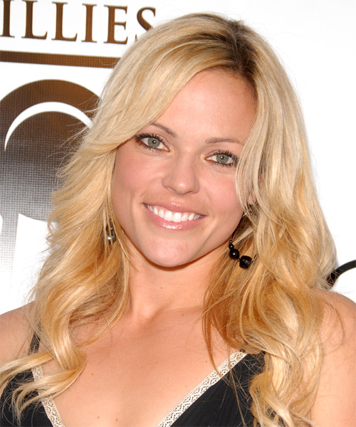 Jennie Finch Long Wavy Formal    Hairstyle   -  Golden Blonde Hair Color with Light Blonde Highlights