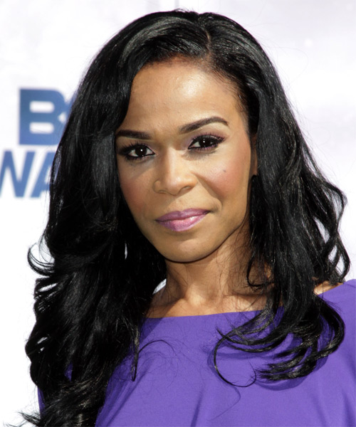 Michelle Williams Long Wavy Formal   Hairstyle   - Black