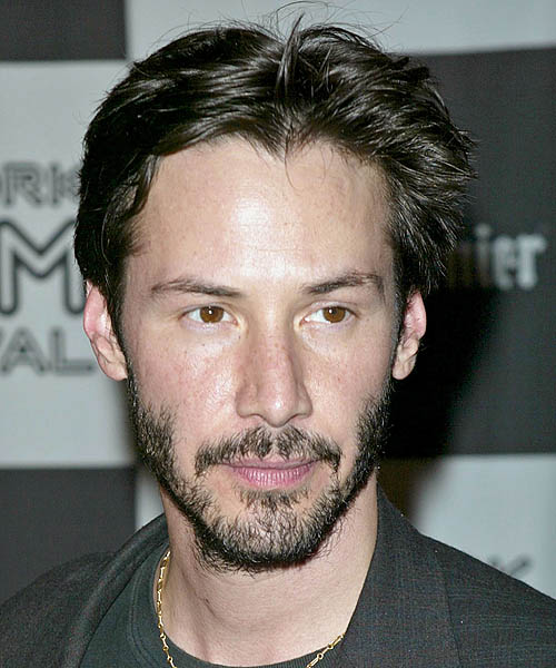 Keanu Reeves Casual Short Straight Hairstyle