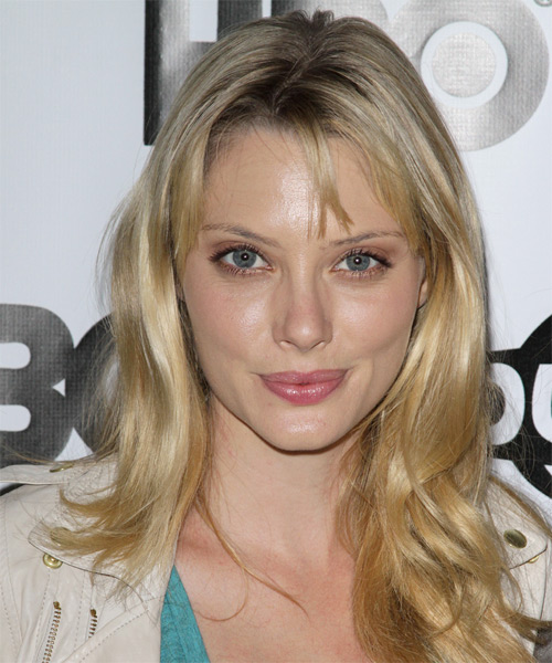 April Bowlby  Long Straight Casual   Hairstyle with Layered Bangs  - Dark Blonde (Golden)