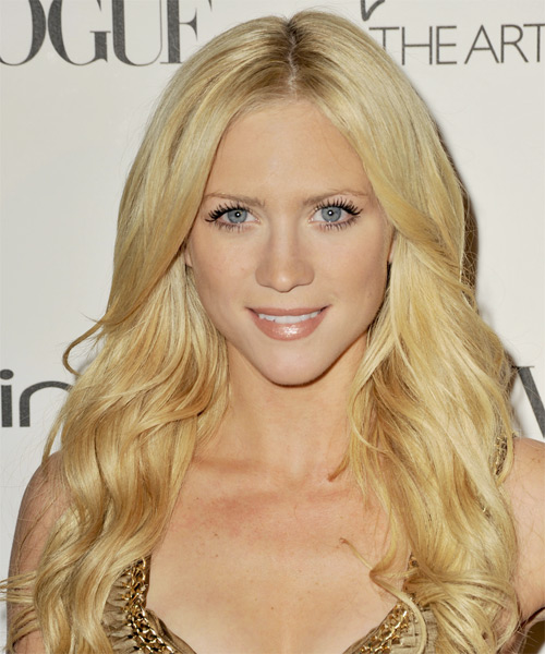 Brittany Snow Long Wavy Formal   Hairstyle   - Light Blonde (Golden)