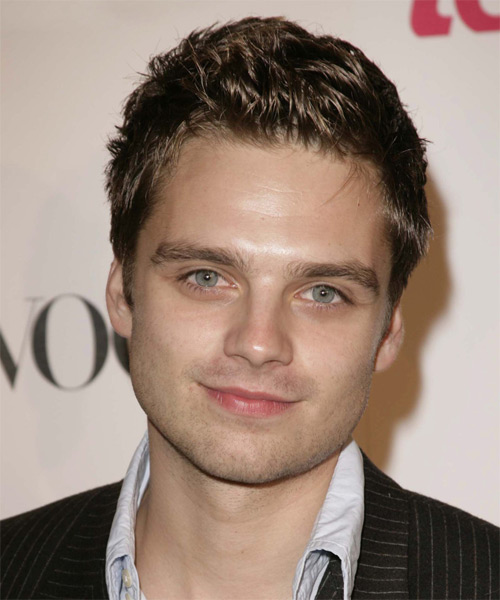 Sebastian Stan Short Straight Casual    Hairstyle   - Dark Brunette Hair Color