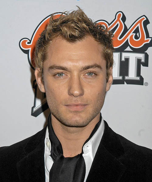 Jude Law Short Wavy Casual   Hairstyle