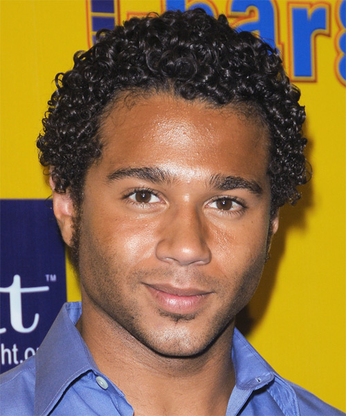 Corbin Bleu Short Curly Casual  Afro  Hairstyle