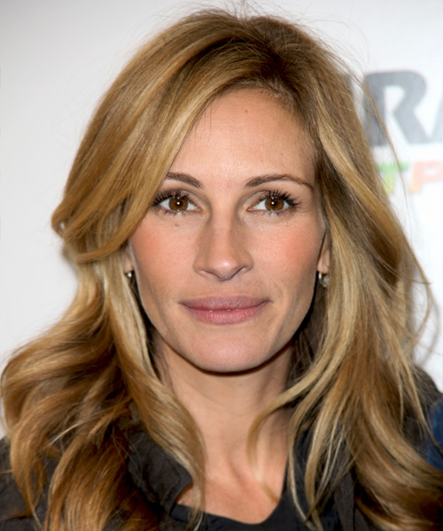 Julia Roberts Long Wavy Casual    Hairstyle   -  Blonde Hair Color with Light Blonde Highlights