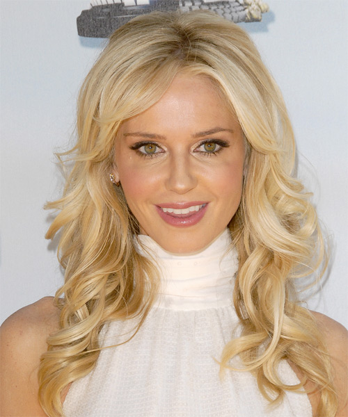Vanessa Branch  Long Wavy Formal   Hairstyle with Side Swept Bangs  - Medium Blonde (Champagne)