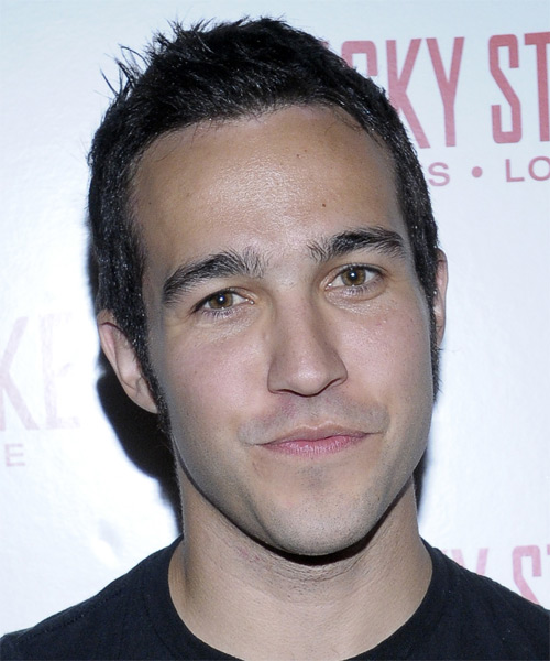 Pete Wentz Short Straight Casual   Hairstyle   - Black