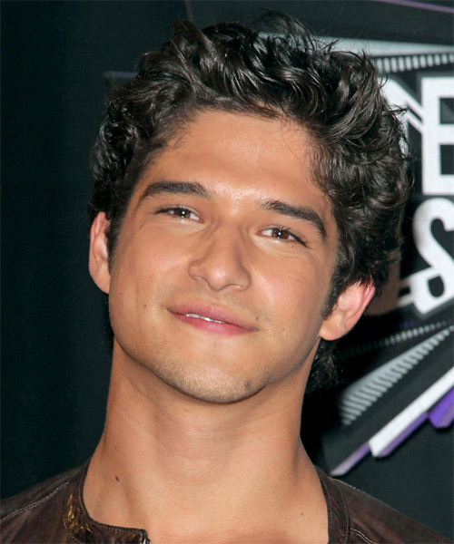 Tyler Posey Short Wavy Casual Hairstyle Black Ash