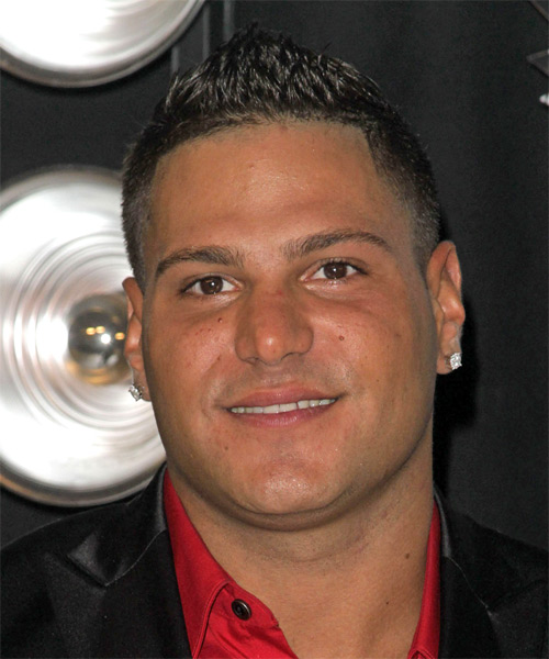 Ronnie Ortiz Short Straight Casual   Hairstyle   - Black