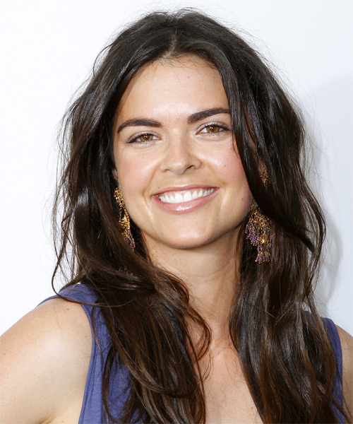 Katie Lee Long Straight Casual   Hairstyle   - Dark Brunette