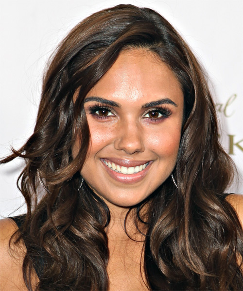 Kristinia DeBarge Long Wavy Casual   Hairstyle   - Dark Brunette