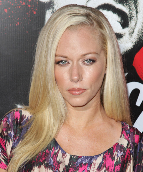 Kendra Wilkinson Long Straight Formal    Hairstyle   - Light Blonde Hair Color