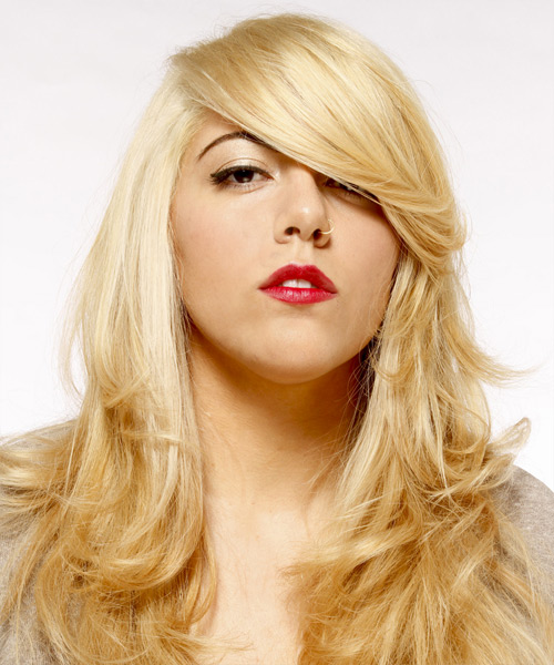 Long Straight Formal   Hairstyle   - Light Blonde