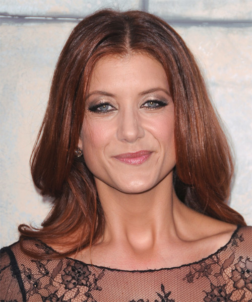 Kate Walsh Long Straight Formal   Hairstyle   - Medium Red