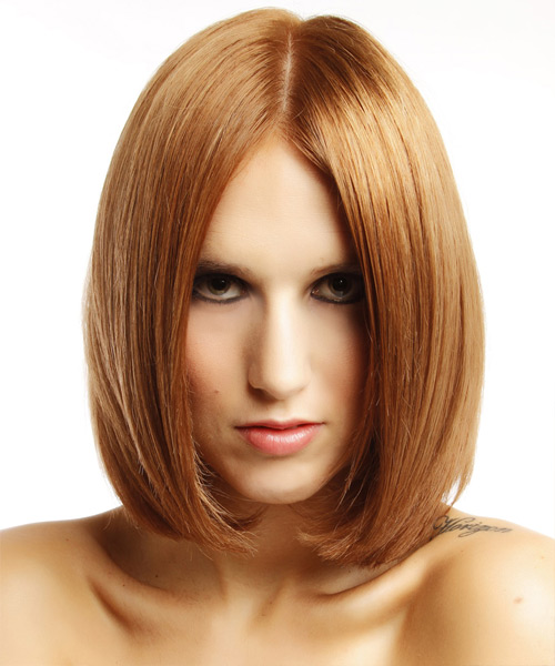 Medium Straight Formal   Hairstyle   - Medium Red (Copper)