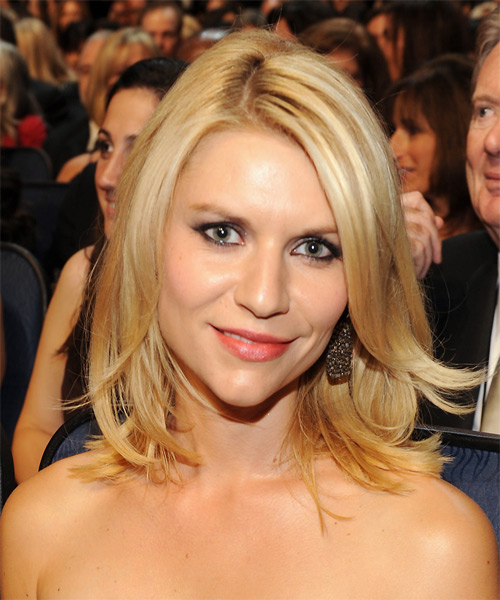Claire Danes Medium Straight Formal   Hairstyle   - Medium Blonde (Golden)