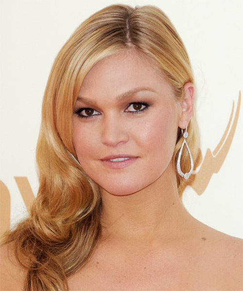 Julia Stiles Long Wavy Formal    Hairstyle   -  Golden Blonde Hair Color with Light Blonde Highlights