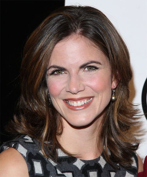 Natalie Morales Medium Straight Formal   Hairstyle   - Medium Brunette