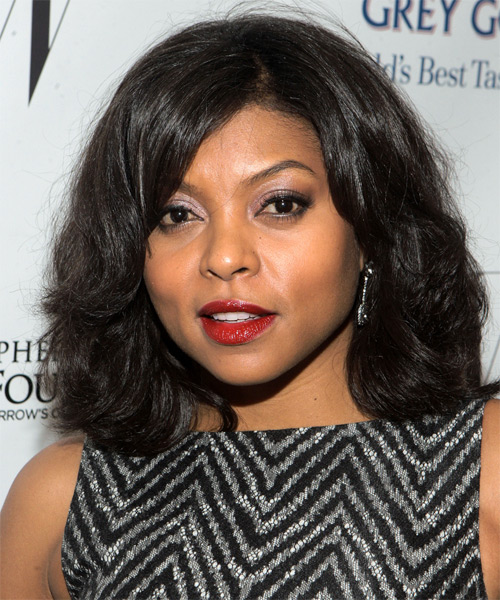Taraji P. Henson Medium Wavy Casual   Hairstyle   - Black