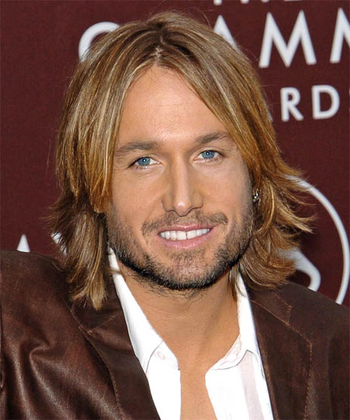 Keith Urban Long Straight Formal   Hairstyle