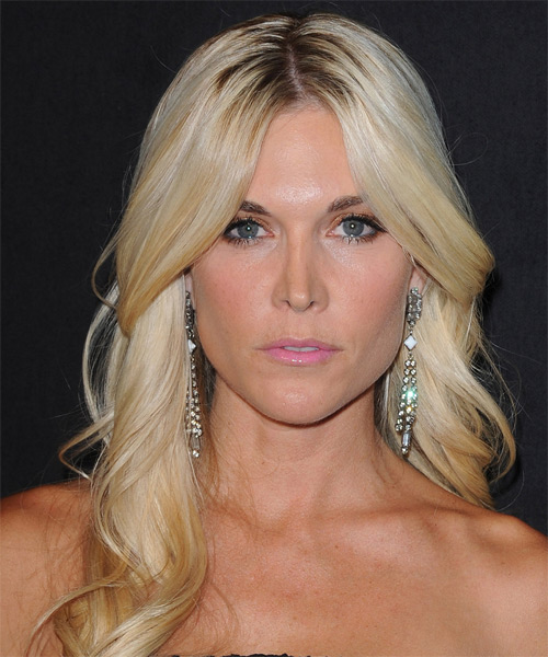 Tinsley Mortimer Long Wavy Formal   Hairstyle   - Light Blonde (Golden)