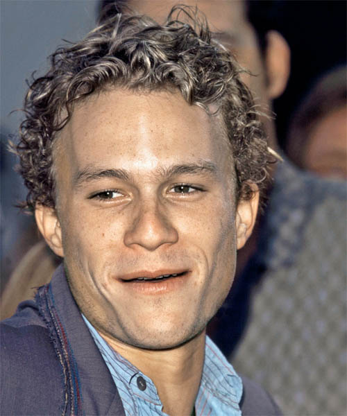 Heath Ledger Short Curly Casual   Hairstyle