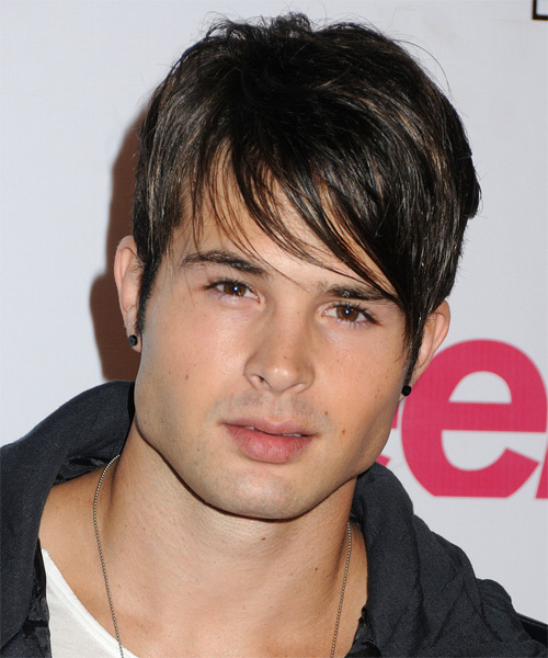 Cody Longo Short Straight Casual   Hairstyle with Side Swept Bangs  - Dark Brunette
