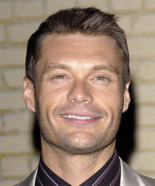 Ryan Seacrest Short Straight Casual   Hairstyle