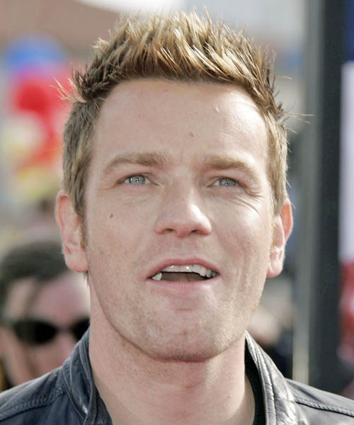 Ewan McGregor Short Straight Casual   Hairstyle