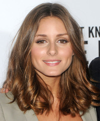 Olivia Palermo Medium Wavy   Light Brunette   Hairstyle