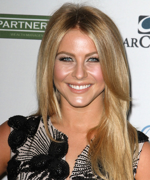 Julianne Hough Long Straight   Dark Honey Blonde   Hairstyle