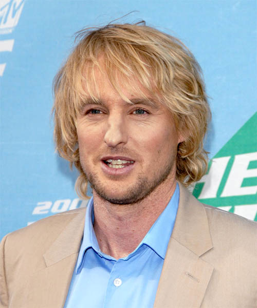 Owen Wilson Medium Wavy     Hairstyle