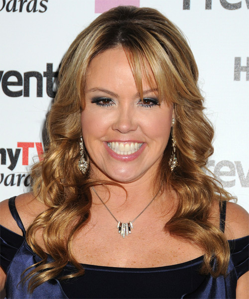 Mary Murphy Long Wavy Formal   Hairstyle with Side Swept Bangs  - Dark Blonde (Golden)