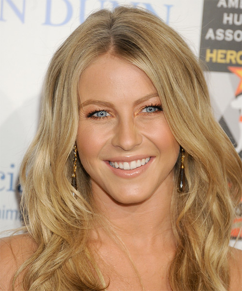 Julianne Hough Long Wavy    Honey Blonde   Hairstyle   with Light Blonde Highlights